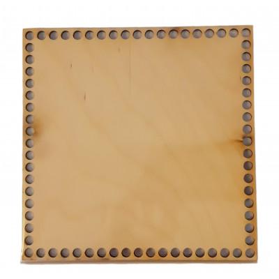 Dno na košíky - čtverec - 16 x 16 cm - buk