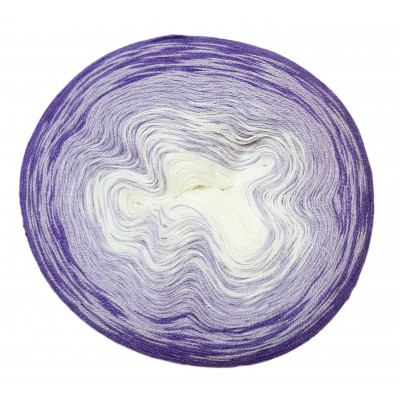 Příze DUHOVÁ FANTAZIE - 5441 bílá, fialová