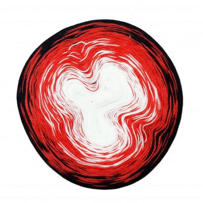 Příze DUHOVÁ FANTAZIE - 5437 bílá, červená, černá