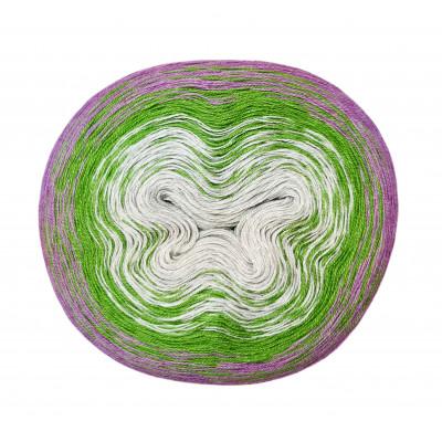 Příze DUHOVÁ FANTAZIE - 5420 šedá, zelená, fialová