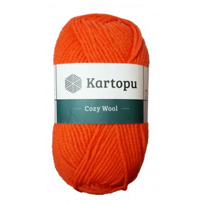 Příze COZY WOOL - K1211 oranžová