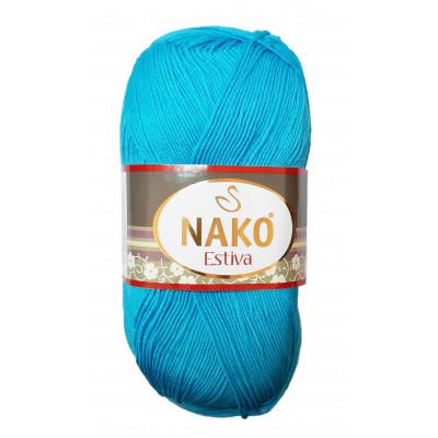 Příze NAKO ESTIVA - 6954 - egyptská modrá