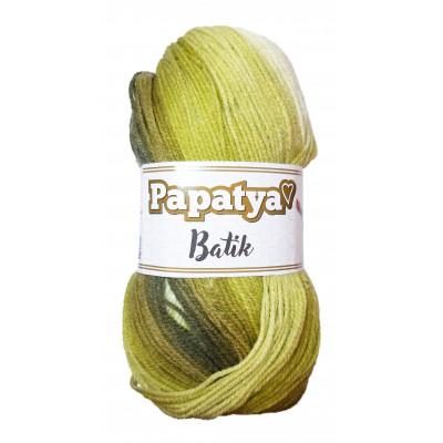 Příze PAPATYA BATIK - 554-03 sv. zelená, tm. zelená