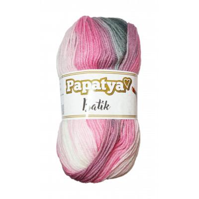 Příze PAPATYA BATIK - 554-21 šedá, růžová, fialová