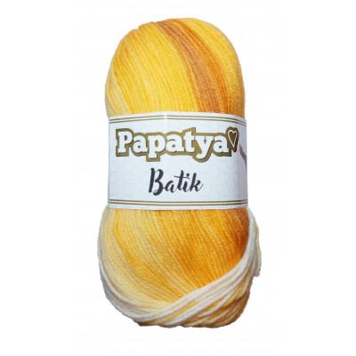 Příze PAPATYA BATIK - 554-09 bílá, oranžová, hnědá