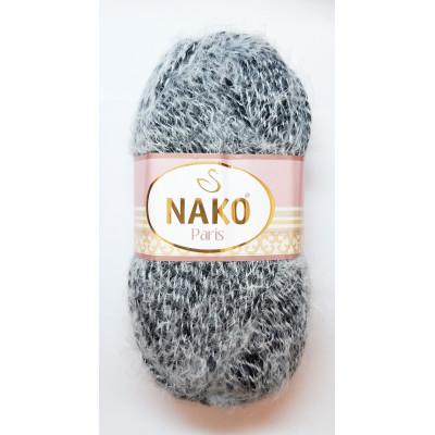 Příze NAKO PARIS - 21304 černá + bílá