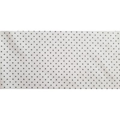 Látka bavlněná - šedá s tmavými puntíky