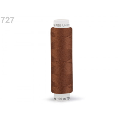 Nitě UNIPOLY - 100 m - 727 srnčí hněď