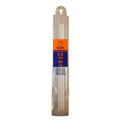 Jehlice ponožkové - hliník - 2,5 mm - 20 cm