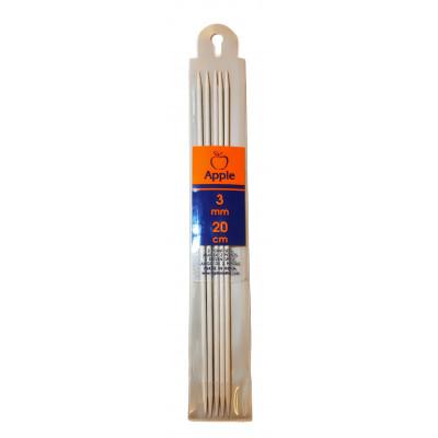 Jehlice ponožkové - hliník - 3 mm - 20 cm