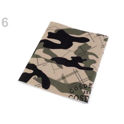 Nažehlovací záplata maskáčová 17 x 43 cm - hnědá přírodní