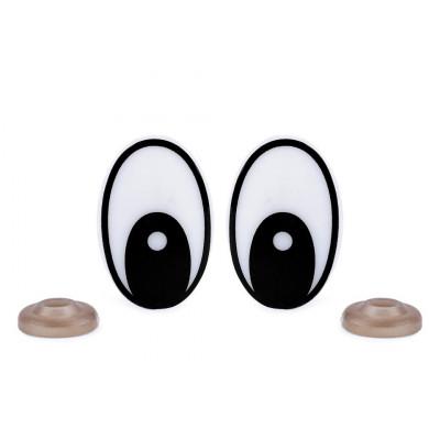 Bezpečnostní oči - 19x29 mm - černá
