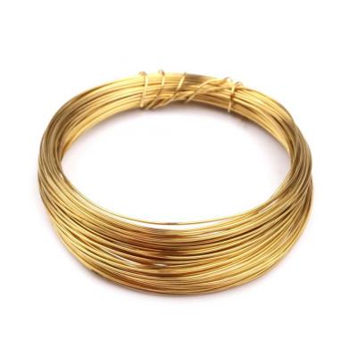 Drát - 0,5 mm - zlatý (do horní části roušek)