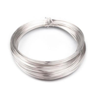 Drát - 0,5 mm - stříbrný (do horní části roušek)