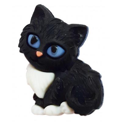 Knoflík plastový - Kotě černobílé