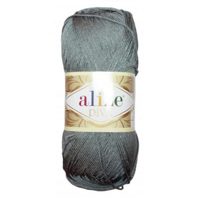 Příze ALIZE DIVA - 87 tmavá šedá