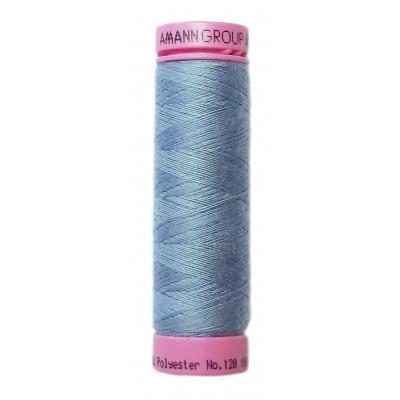 Polyesterová nit Aspo Amann - 100 m - 1342 holubí modř