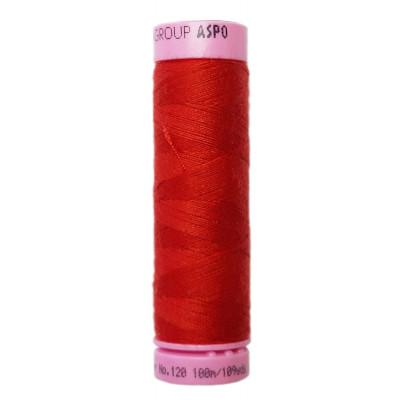 Polyesterová nit Aspo Amann - 100 m - 0504 červená