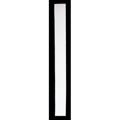 Stuhový uzávěr (suchý zip) - 20 mm / 20 cm - 01 bílá