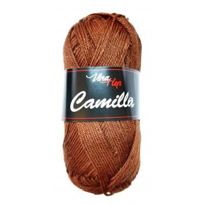 Příze CAMILLA - 8220 tmavě hnědá