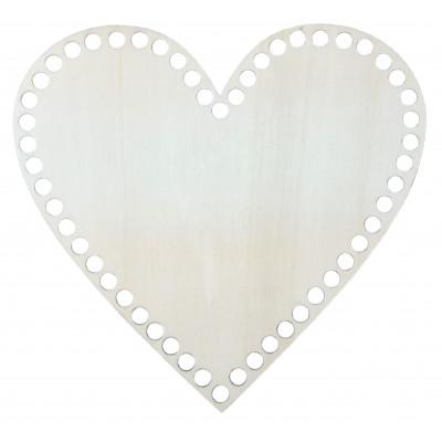 Dno na košíky - srdce - 20 cm