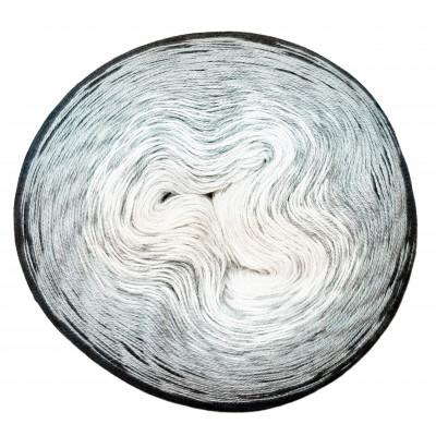 Příze DUHOVÁ FANTAZIE - 5410 bílá, šedá, černá