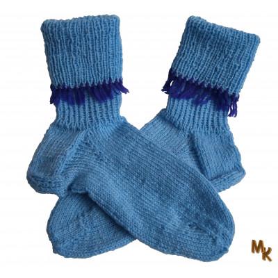Ponožky modré s třásněmi
