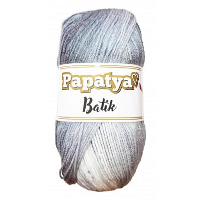 Příze PAPATYA BATIK - 554-01 sv. šedá - tm. šedá