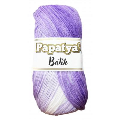 Příze PAPATYA BATIK - 554-08 sv. fialová - tm. fialová