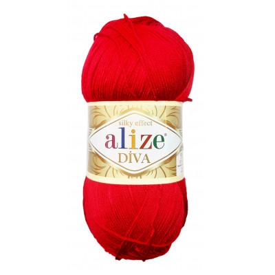 Příze ALIZE DIVA - 106 červená