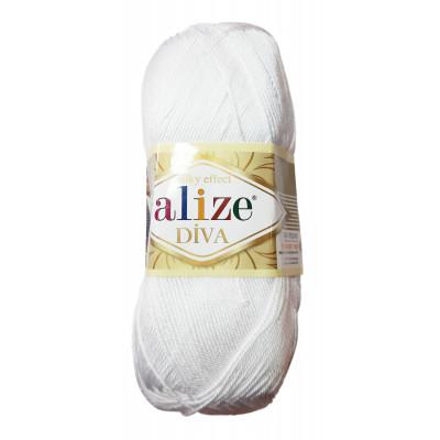 Příze ALIZE DIVA - 55 bílá