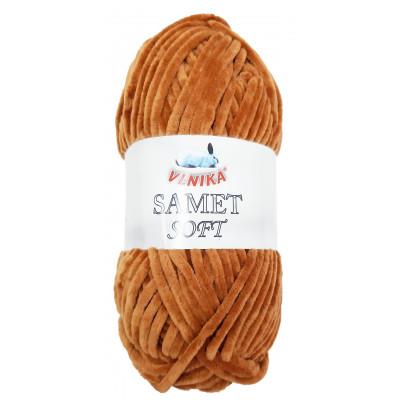 Příze SAMET SOFT - 248 hnědá