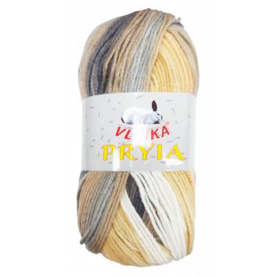 Příze PRYIA - 115 béžová, hnědá, šedá