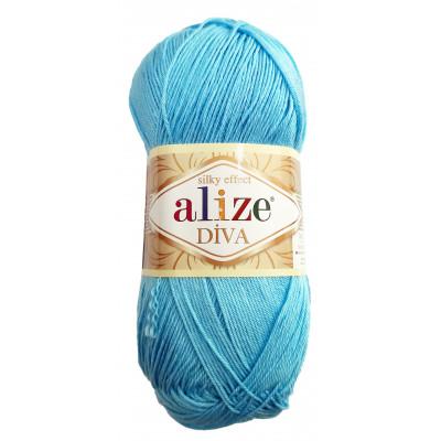 Příze ALIZE DIVA - 346 světle modrá