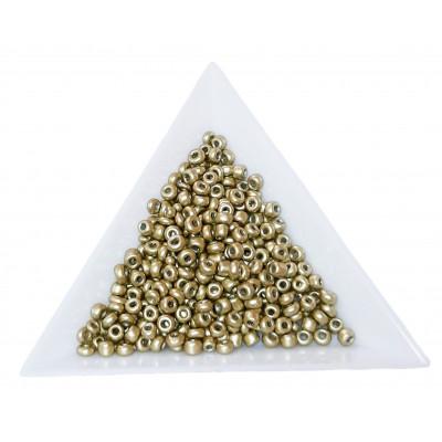 Rokajl 8/0 - 3 mm - metalický, neprůhledný - QK18 sv. zlatá