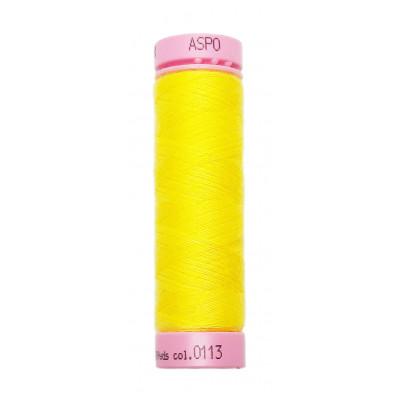 Polyesterová nit Aspo Amann - 100 m - 0113 kanárkově žlutá