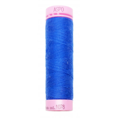 Polyesterová nit Aspo Amann - 100 m - 1078 královská modř