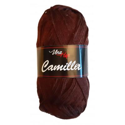 Příze CAMILLA - 8229 tmavě hnědá