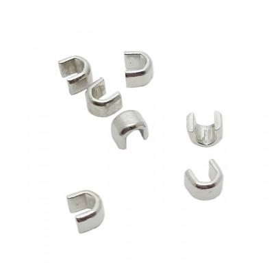 Koncovka na zip 5 mm - horní - 3 nikl
