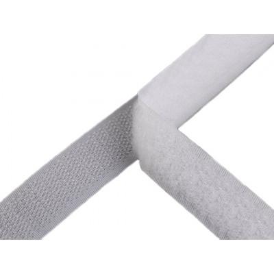 Suchý zip - 20 mm - bílý