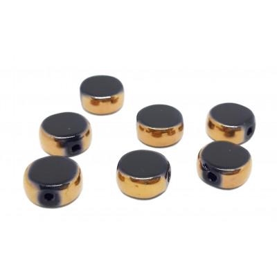 Korálky - pokovená kolečka 10 mm - černá