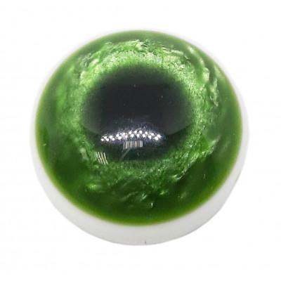 Knoflík oko - 15,24 mm - zelená