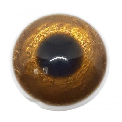 Knoflík oko - 15,24 mm - hnědá