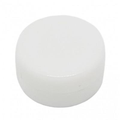 Chrastítko ploché - 18 mm - bílá