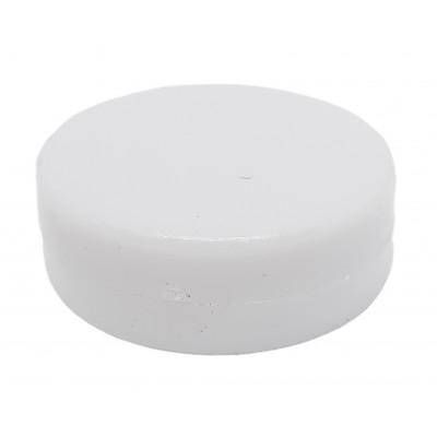 Chrastítko ploché - 30 mm - bílá