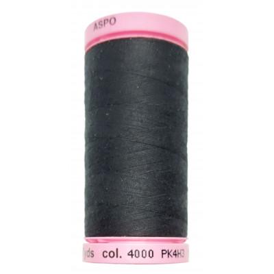 Polyesterová nit Aspo Amann - 500 m - 4000 černá