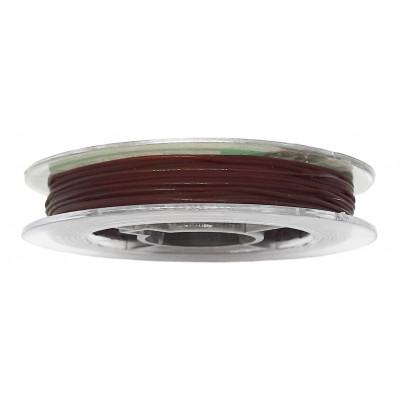 Vlákno silikonové 0,6 mm, 9 m - 02 hnědá