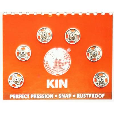 Knoflík stiskací KIN vel. 0 (6,5 mm) - 1111 nikl