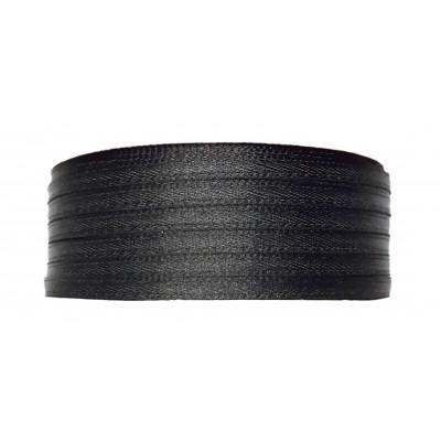 Stuha saténová 3 mm - 900 černá
