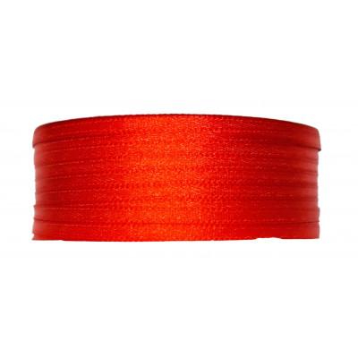 Stuha saténová 3 mm - 620 červená